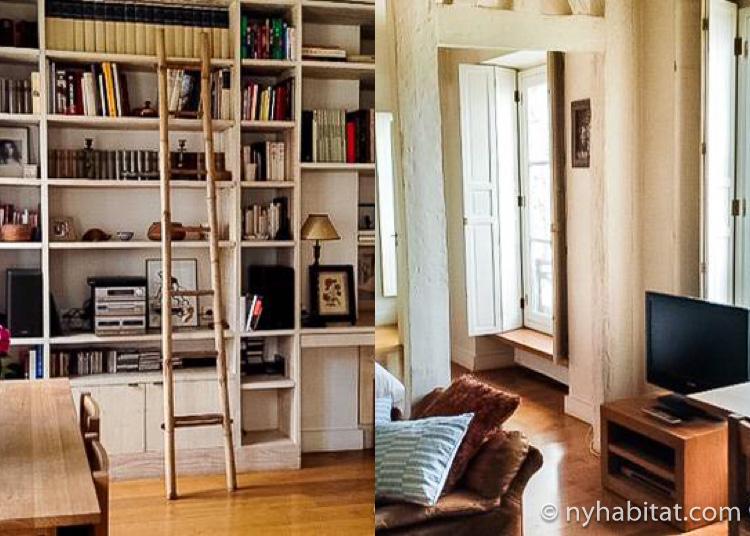 Immagine di un appartamento con una camera da letto di Marais PA-3753