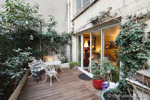 Immagine della terrazza-giardino dell'appartamento PA-2791