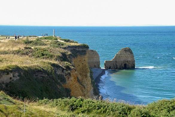 Immagine delle spiagge e della scogliera della Normandia, Francia
