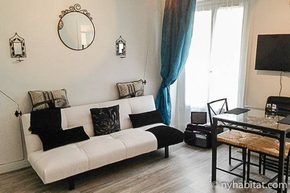 Immagine del soggiorno dell'appartamento PA-4414 a Canal Saint Martin in stile contemporaneo