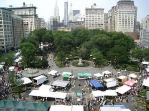 Vista del mercadillo en Union Square