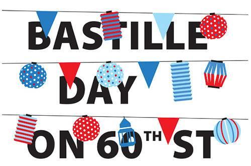 Logo del Instituto Francés en Nueva York con motivo del Día de la Bastilla en la calle 60