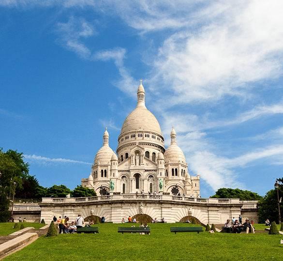 Fotografía de la colina de Montmartre y del Sacré-Cœur