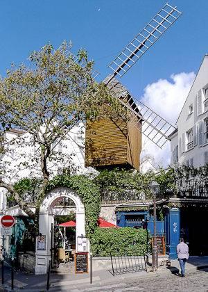 Fotografía del Moulin de la Galette de Montmartre