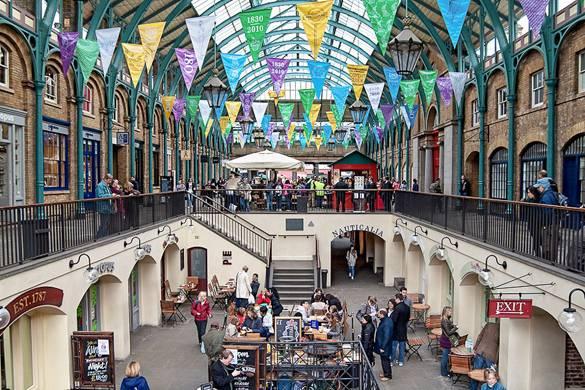 Imagen del mercado de Covent Garden en West End