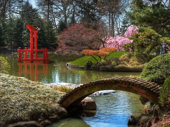 Imagen del Jardín Botánico de Brooklyn en Nueva York