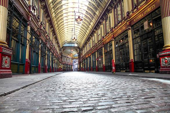 Imagen de Leadenhall Market en la City, Londres