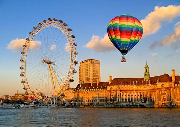 Foto del London Eye y el Acuario de Londres