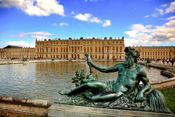 Fotografía del Palacio de Versalles en Francia