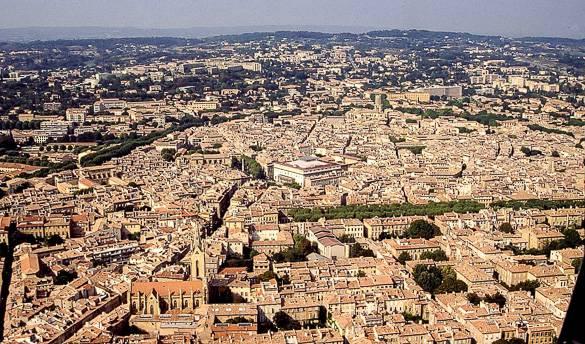 Vista aérea de Aix-en-Provence