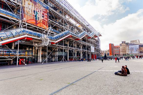 Fotografía del Centro Georges Pompidou de París