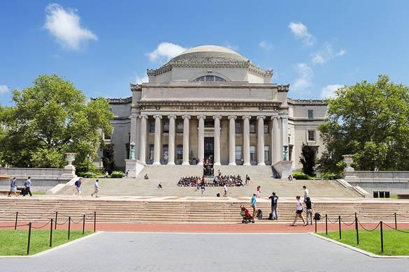 Fotografía de la Universidad de Columbia en Upper Manhattan