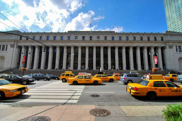 Imagen del edificio de correos de Manhattan James A. Farley Post Office en Chelsea