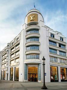 Mapa de la tienda de Louis Vuitton en los Campos Elíseos, en París