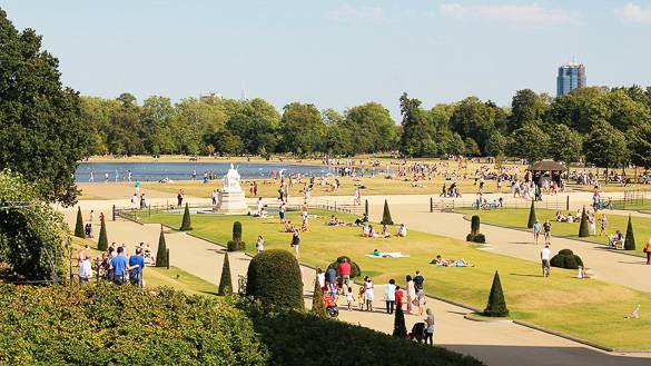 Fotografía de Hyde Park en Londres