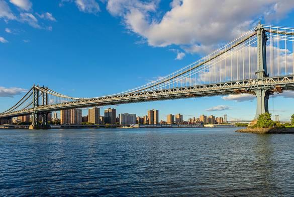Fotografía del puente de Manhattan tomada desde DUMBO, Brooklyn