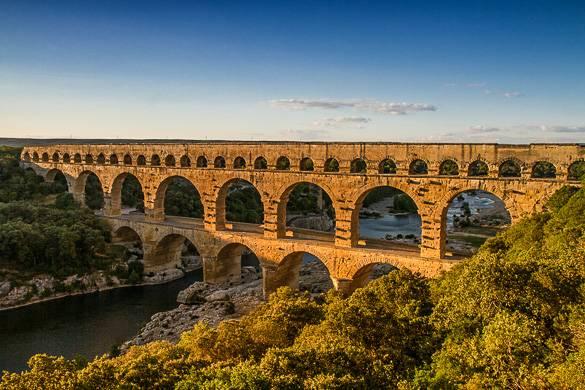 Fotografía del famoso Pont du Gard, Provenza
