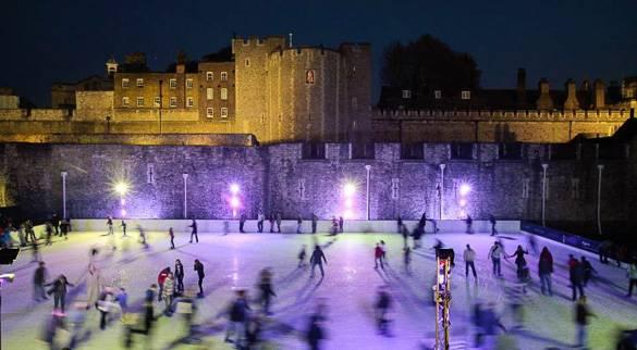 Imagen de la pista de patinaje sobre hielo de la Torre de Londres