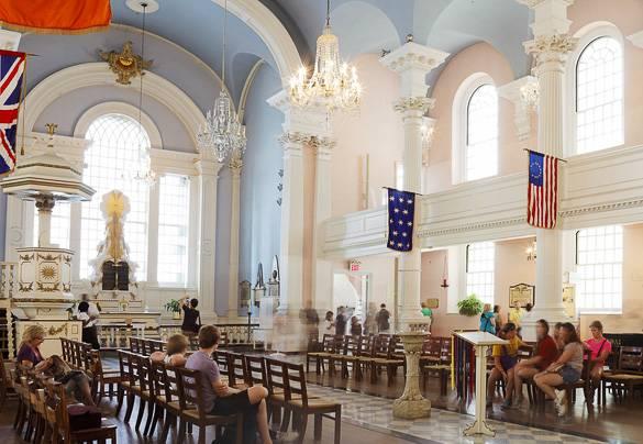 La Capilla de Saint Paul de Nueva York en el sur de Manhattan