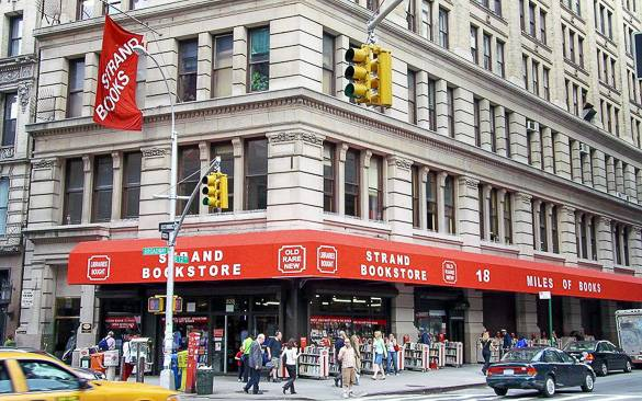 Imagen de la librería Strand cerca de East Village, Manhattan.