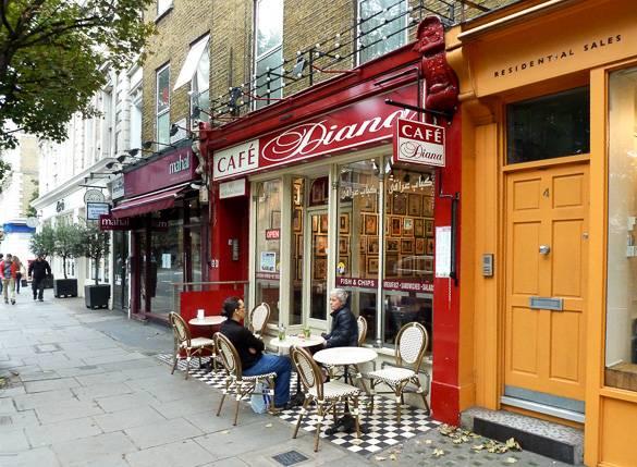 Fotografía del Café Diana de Notting Hill