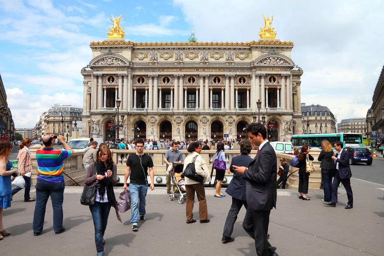 Imagen del exterior del Palacio Garnier