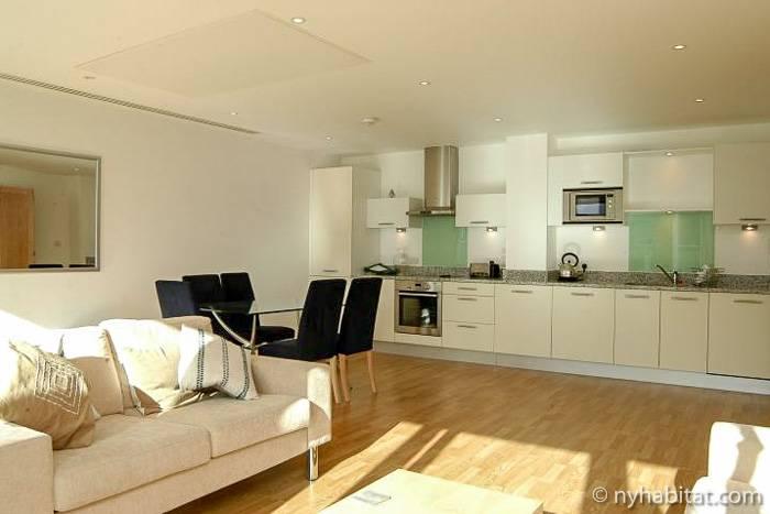 Imagen de un moderno apartamento en Vauxhall, Londres