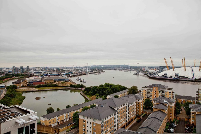 Imagen del río Támesis desde un edificio alto en Canary Wharf.