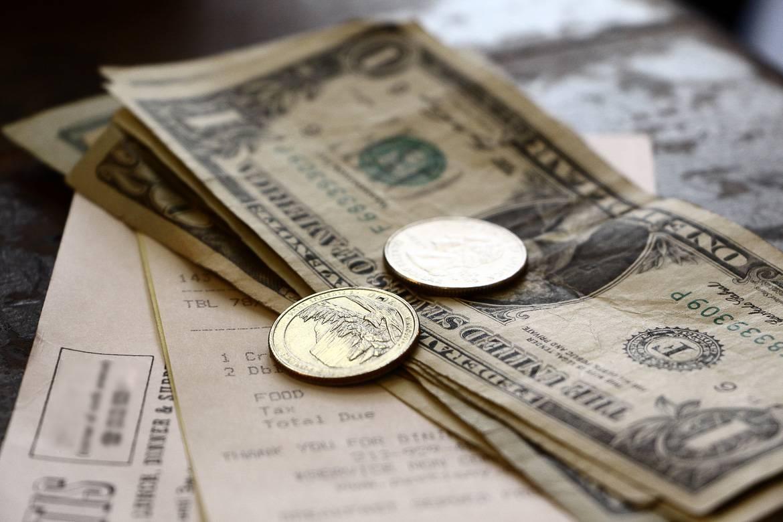 Imagen de la moneda americana, dólares y céntimos