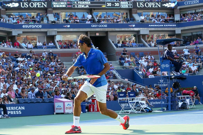 Imagen de Roger Federer en el US Open.