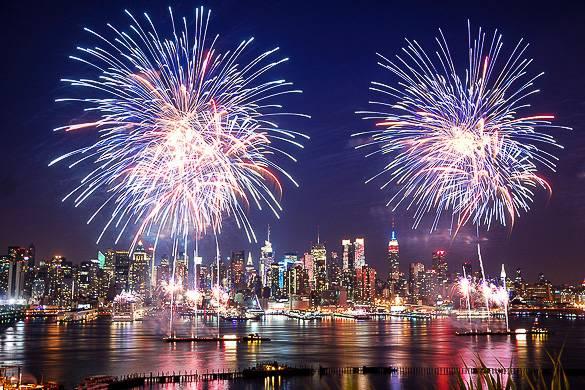 Imagen de los fuegos artificiales del 4 de Julio.