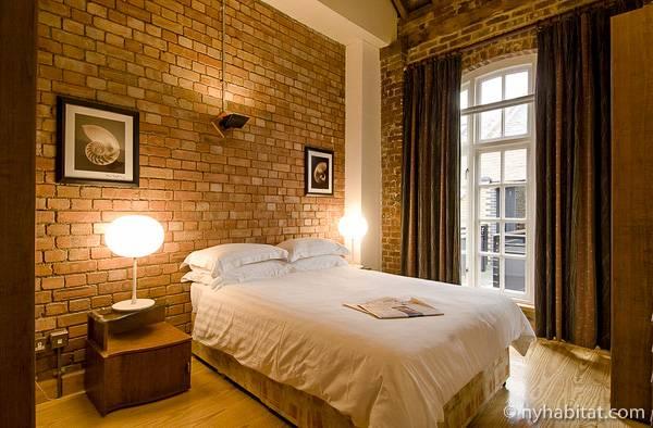 Fotografía de un típico apartamento de un dormitorio en la ciudad de Londres.