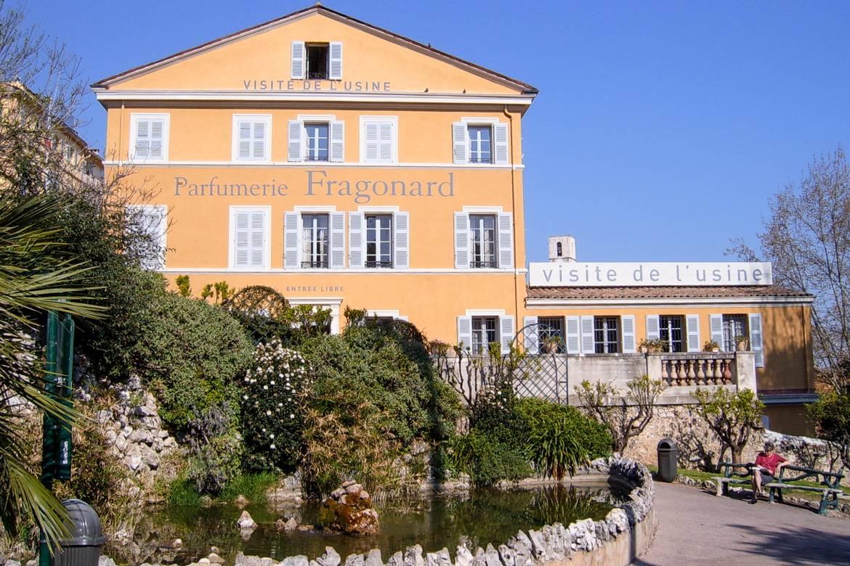 Foto de la fábrica de perfumes Fragonard en Grasse, Francia