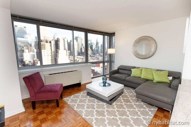 Fotografía de un apartamento de dos dormitorios en Midtown West, Manhattan