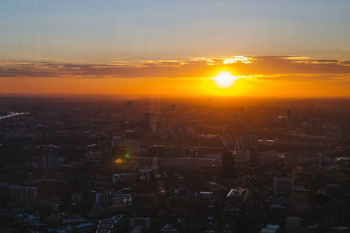 "Imagen tomada desde ""The View from the Shard"""