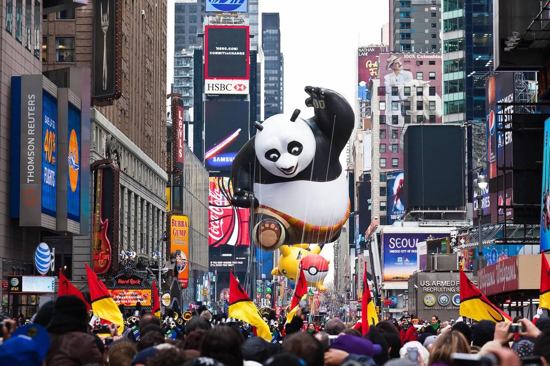 Imagen del Desfile de Macy's del Día de Acción de Gracias