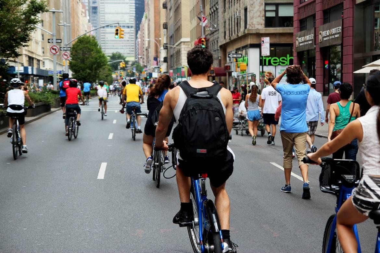 Imagen de los ciclistas
