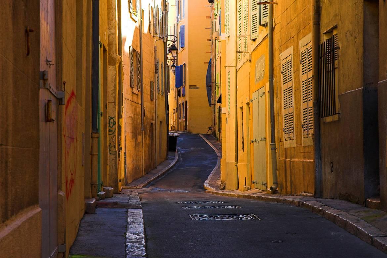 Foto de las calles de Le Panier en el Puerto Viejo