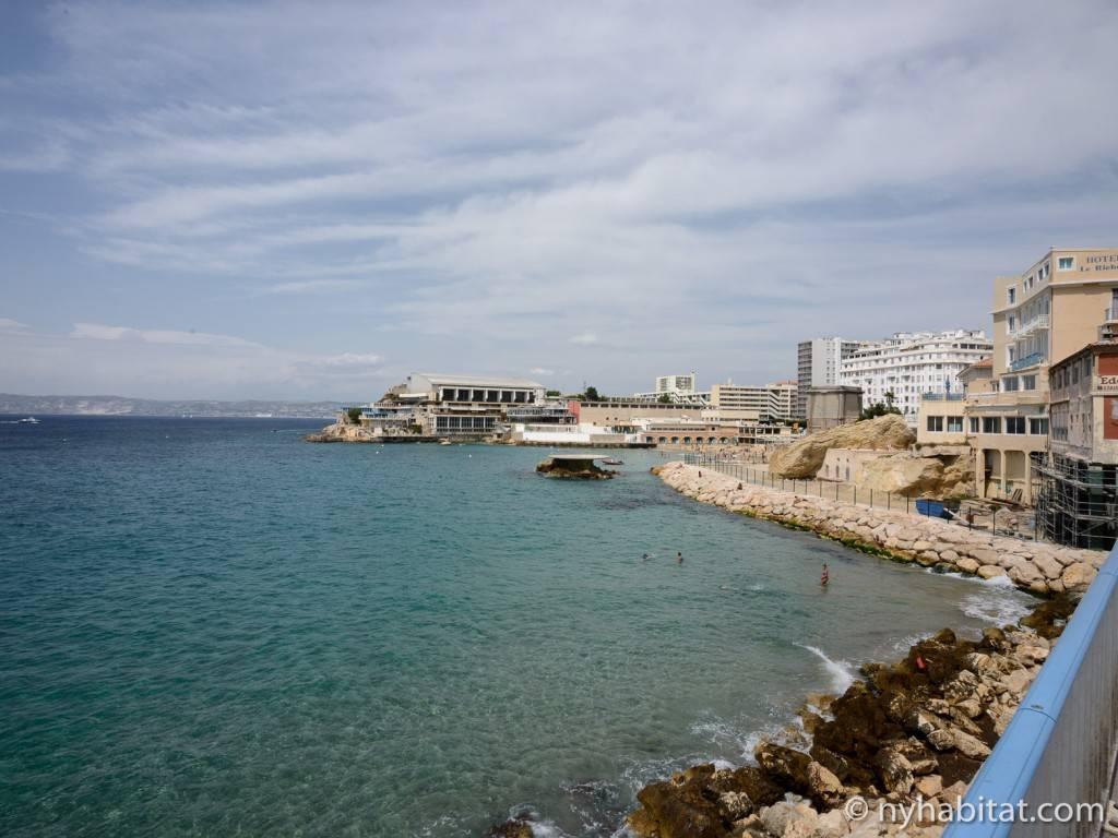 Imagen de la costa mediterránea en Marsella