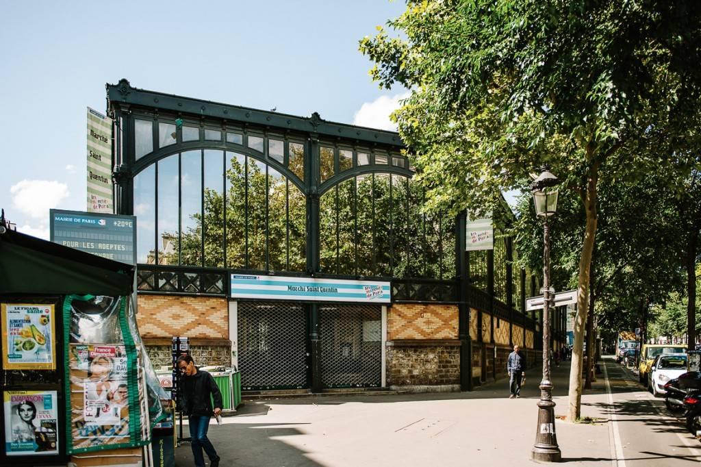 Imagen de la entrada al Mercado de Saint-Quentin.