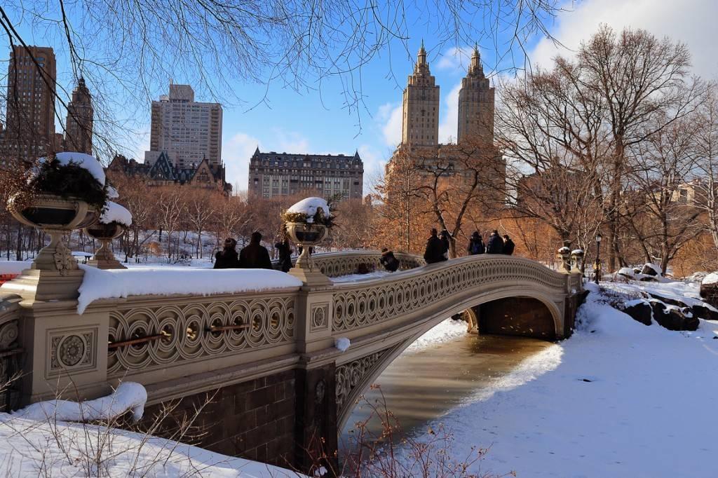 Imagen del Central Park cubierto de nieve