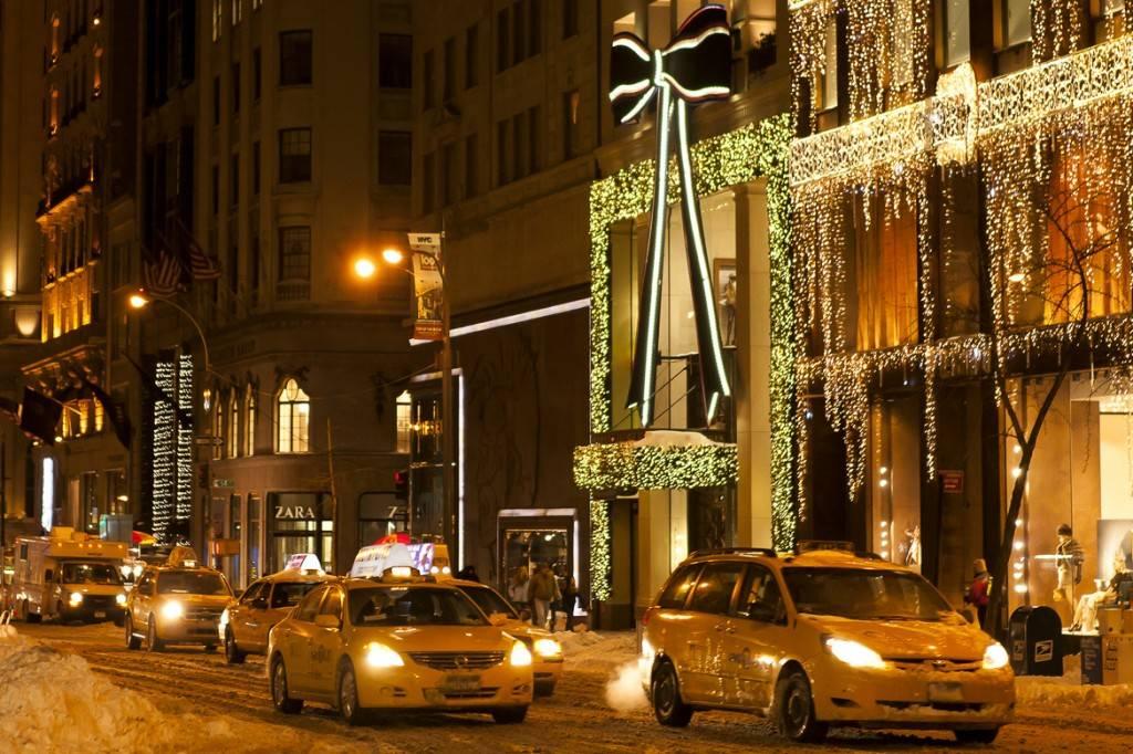 Imagen de una calle nevada