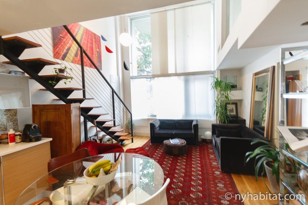 Imagen de la sala de estar del apartamento NY-15911