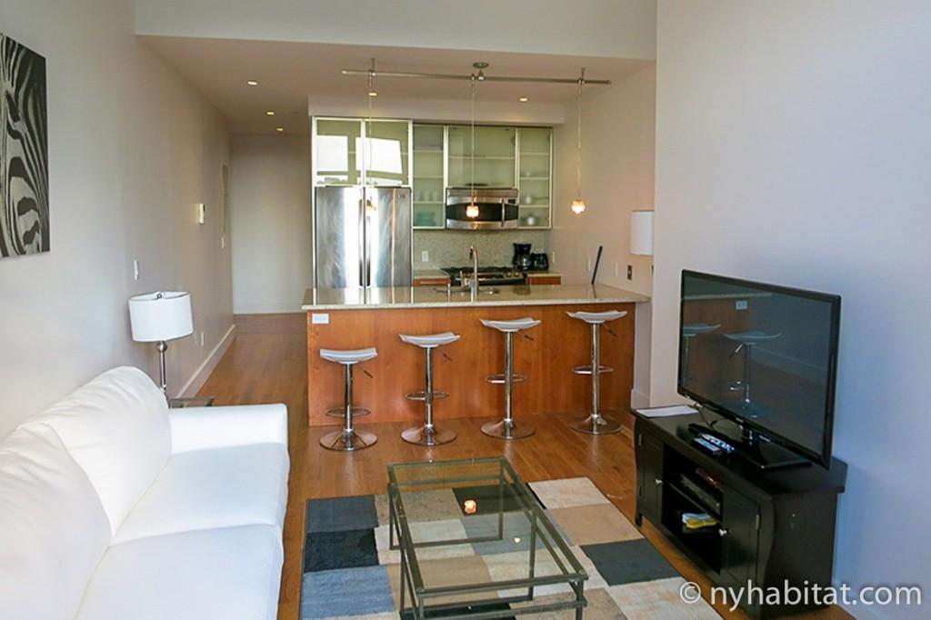 Imagen de la sala de estar del apartamento NY-16683