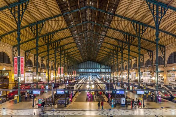 Imagen del hall principal de la estación Gare du Nord