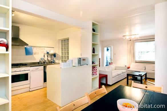 Imagen del salón del apartamento de un dormitorio LN-1473