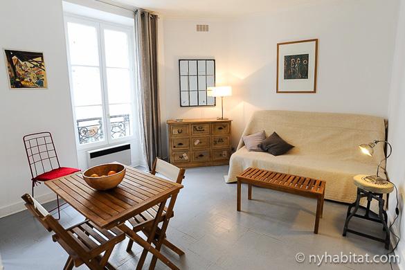 Imagen del apartamento estudio amueblado PA-4385 en Marais.