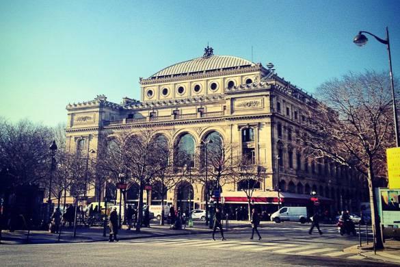Fotografía del Teatro de Chatelet en París