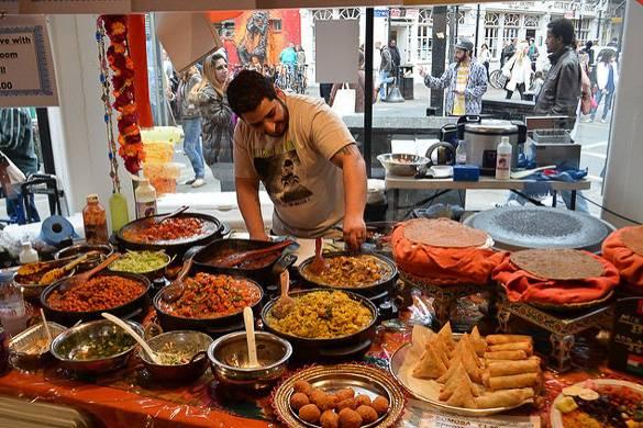 Imagen de comida casera india