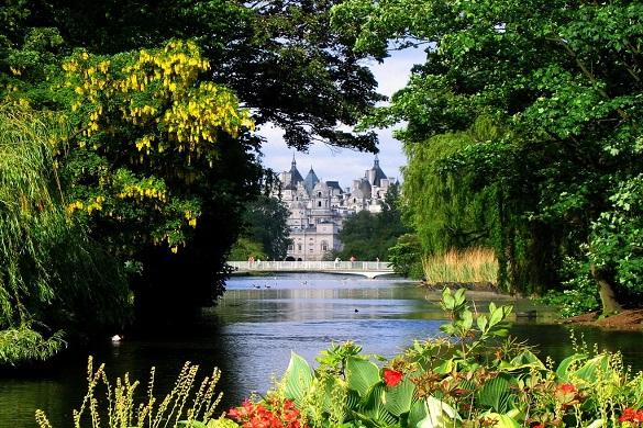 Imagen de árboles rodeando un lago en Hyde Park